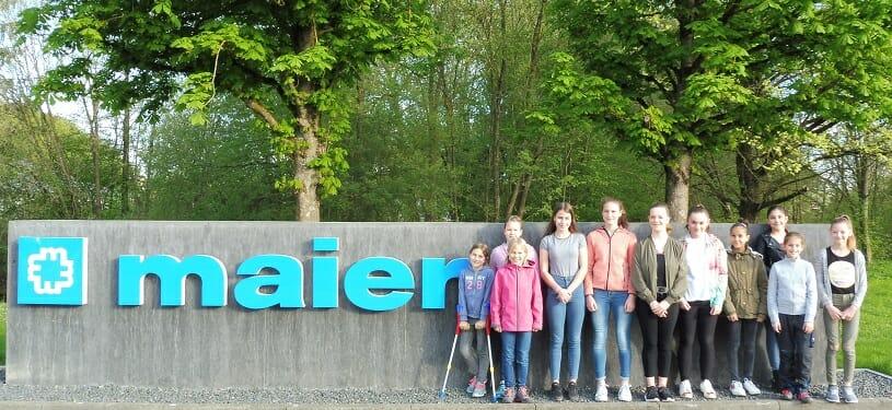 Teilnehmerinnen des Girls' Day 2018 bei Christian Maier in Heidenheim.